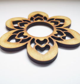 StemGem Wooden Flower shape