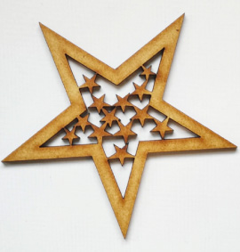 StemGem Wooden Star shape