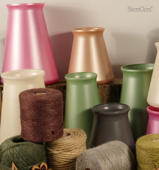 Aqua, Posie & Table StemGem Vases