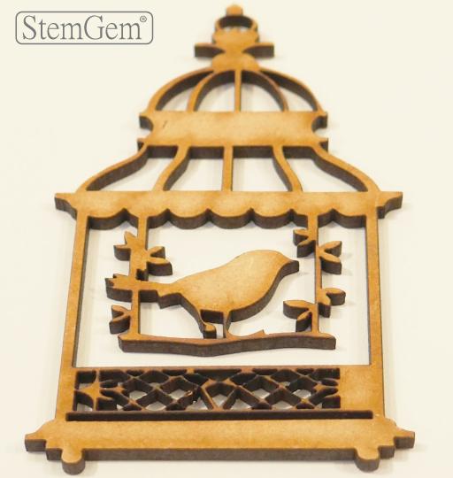 StemGem Birdcage wooden shape