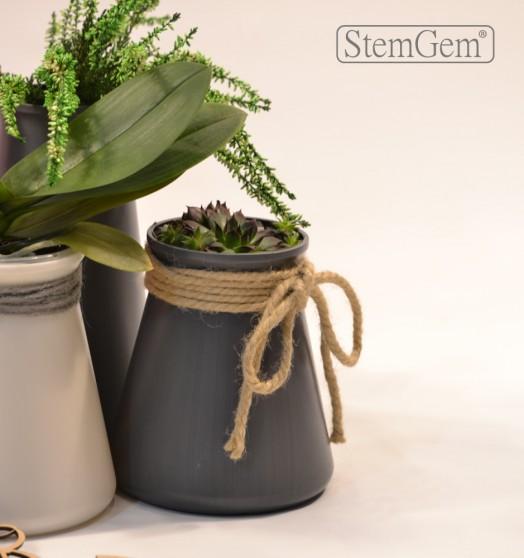 Grey StemGem Table Vase