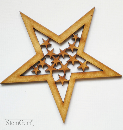 StemGem Star wooden shape