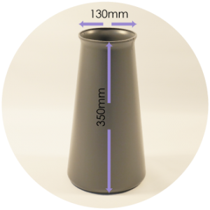 StemGem Shop Vase Height & Diameter