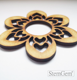 Flower wooden shape