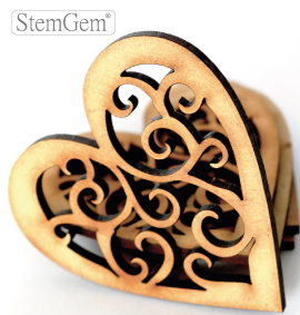 Heart wooden shape