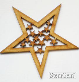 Star wooden shape