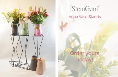 StemGem® Aqua Vase Pedestals