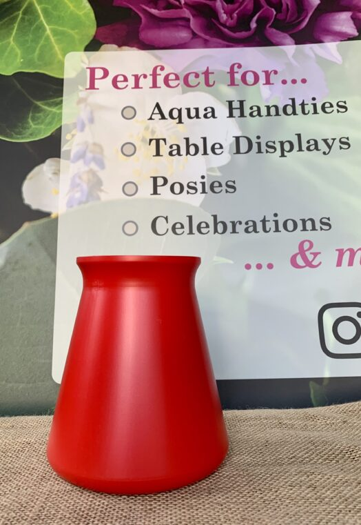 Red StemGem® Table Vase