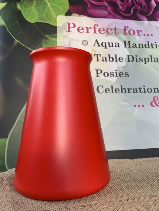 Red StemGem® Aqua Vase