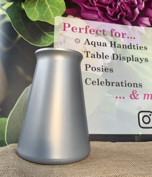Silver Aqua StemGem® Vase
