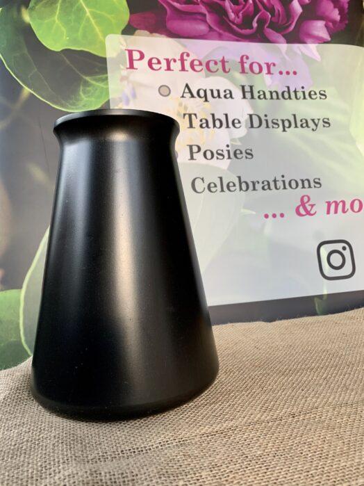 Black StemGem® Aqua Vase