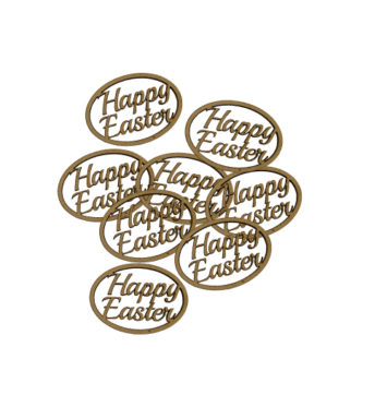 StemGem Wooden Happy Easter Shapes