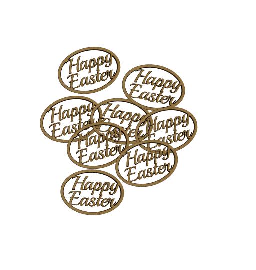 StemGem Wooden Happy Easter Shapes